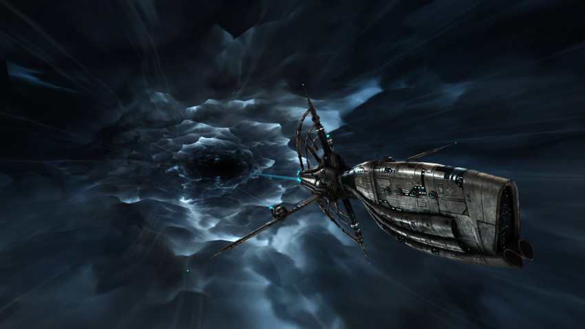 Gnosis battlecruiser in warp - Wallpaper #139 - Free EvE-Online